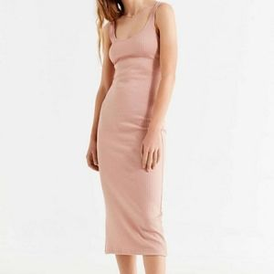 Urban Outfitters Bella Pink Ribbed Knit Dress M